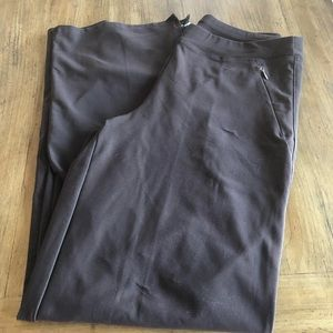 Lucy Chocolate Brown Yoga Pants with Zippers